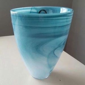 Turquoise Polished Alabaster Vase